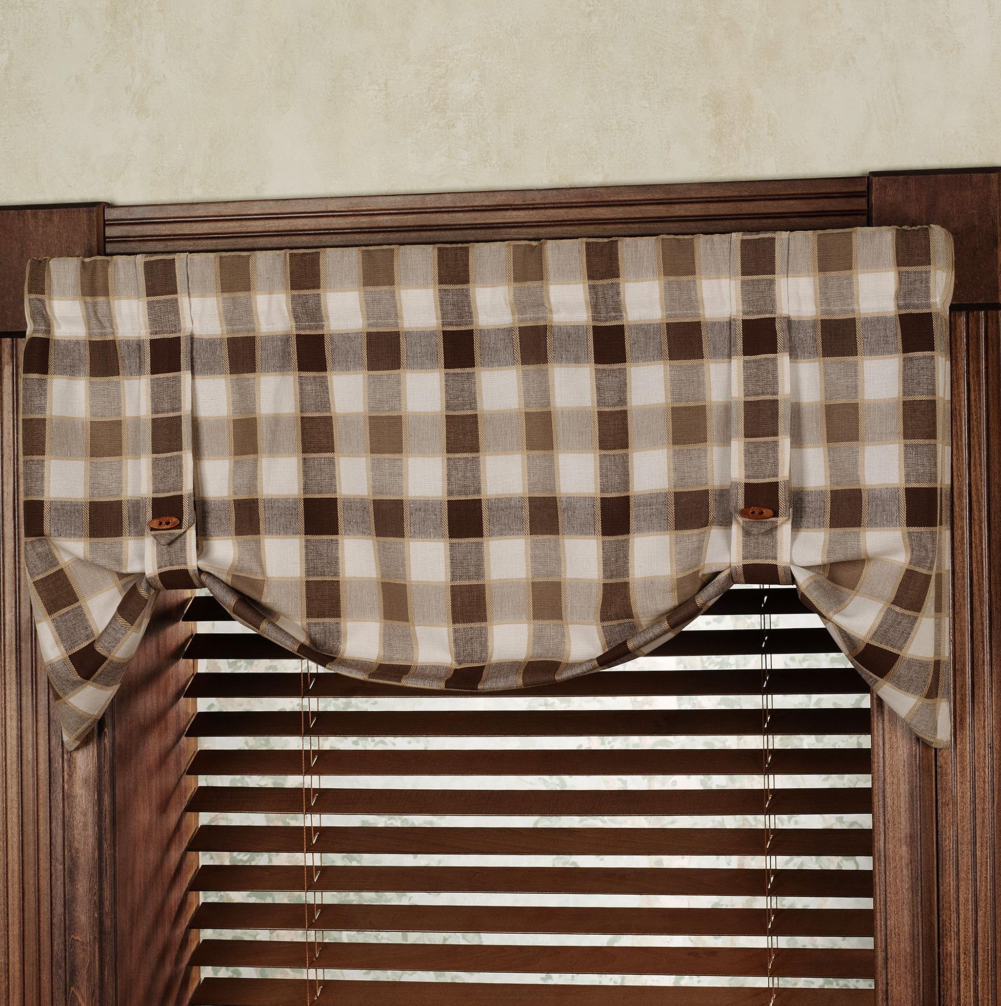 Plaid Kitchen Curtains Valances Home Design Ideas