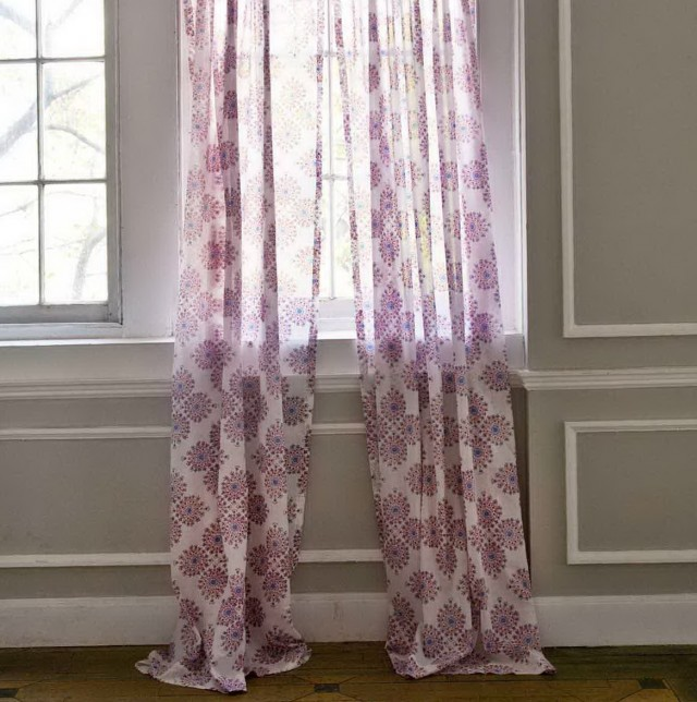 Purple And White Bedroom Curtains - Home Safe