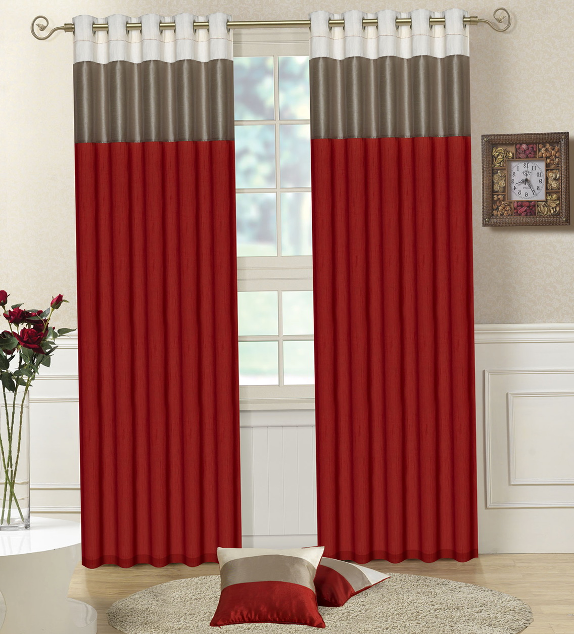 Red And Grey Curtains Uk Home Design Ideas