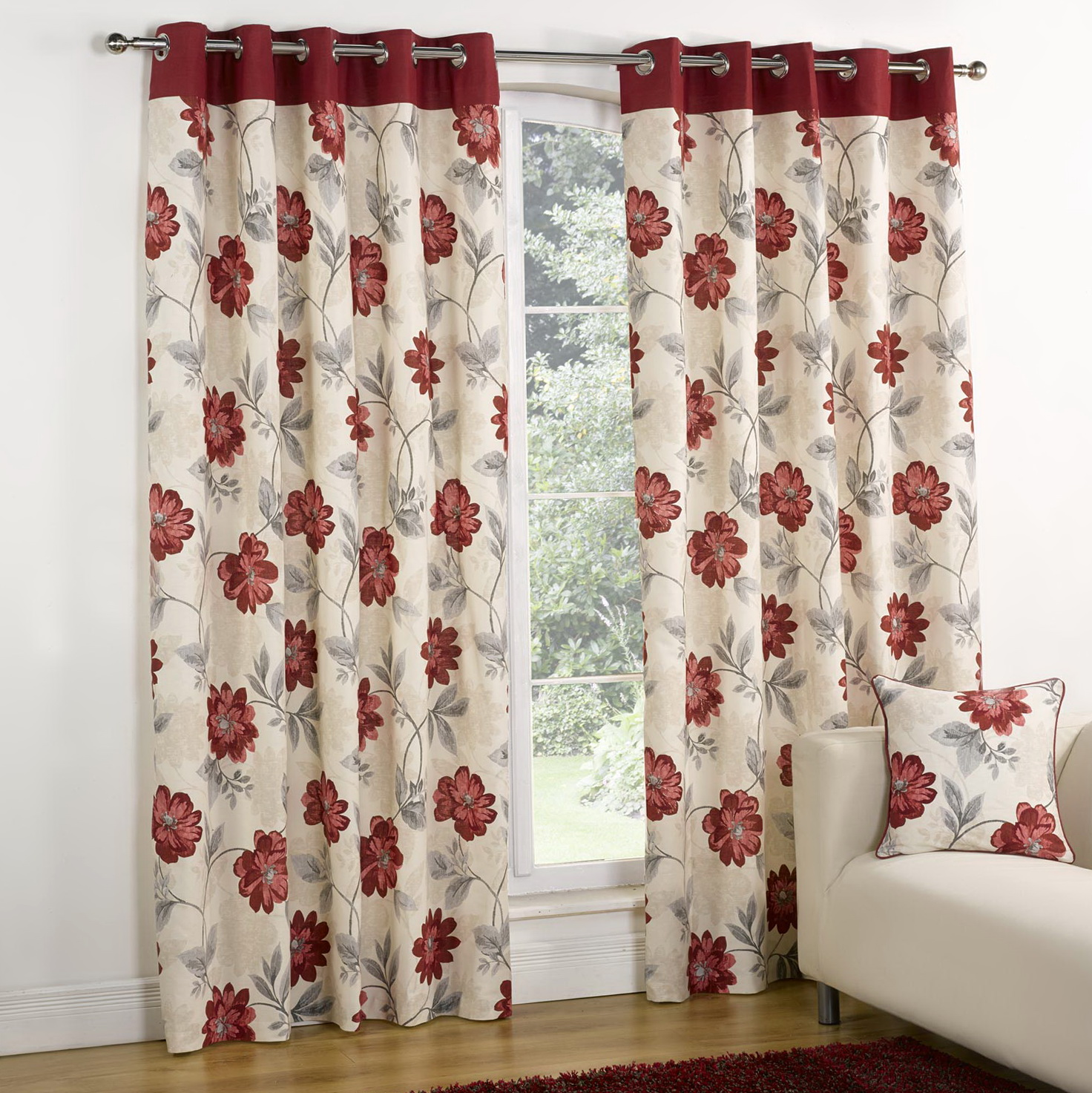 Red And White Patterned Curtains Home Design Ideas