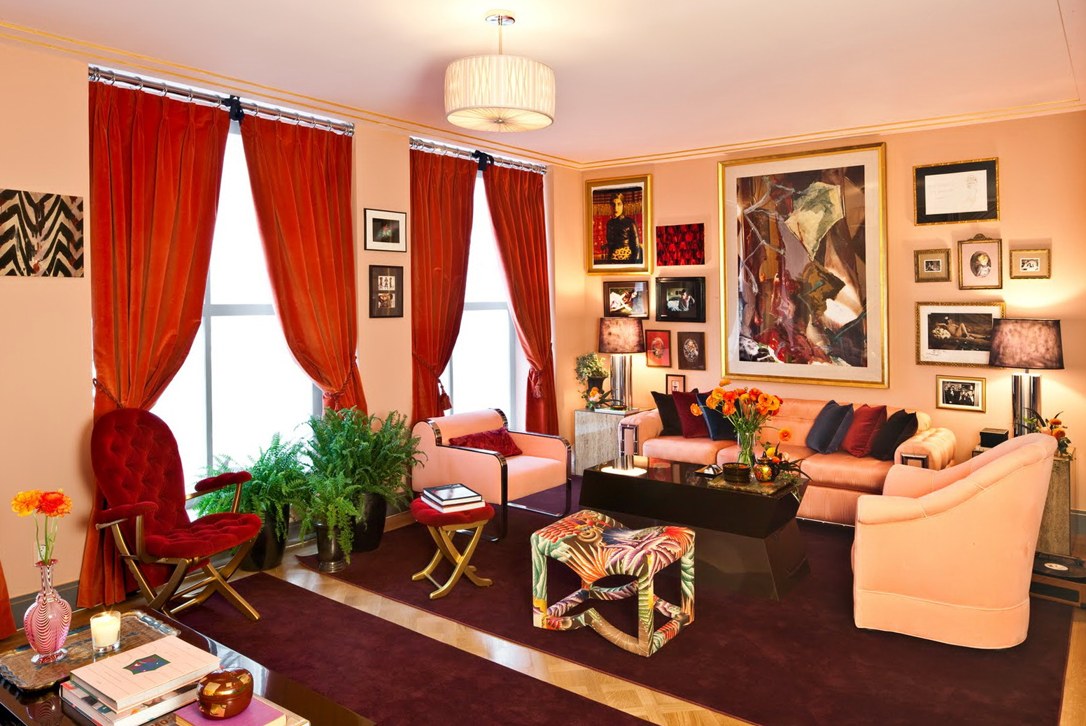 Red Curtain For Living Room Home Design Ideas