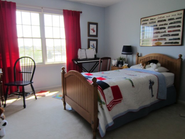 Red Curtains For Boys Room