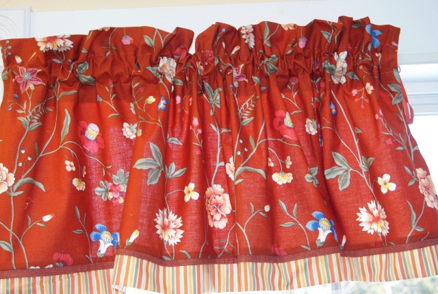 Red Multi Colored Curtains