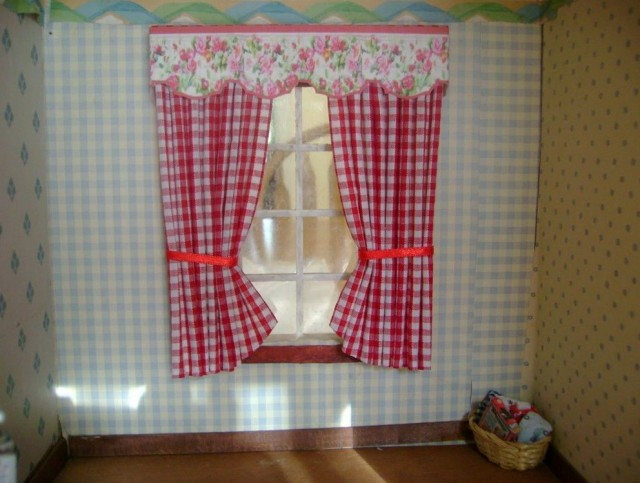 Red Plaid Kitchen Curtains