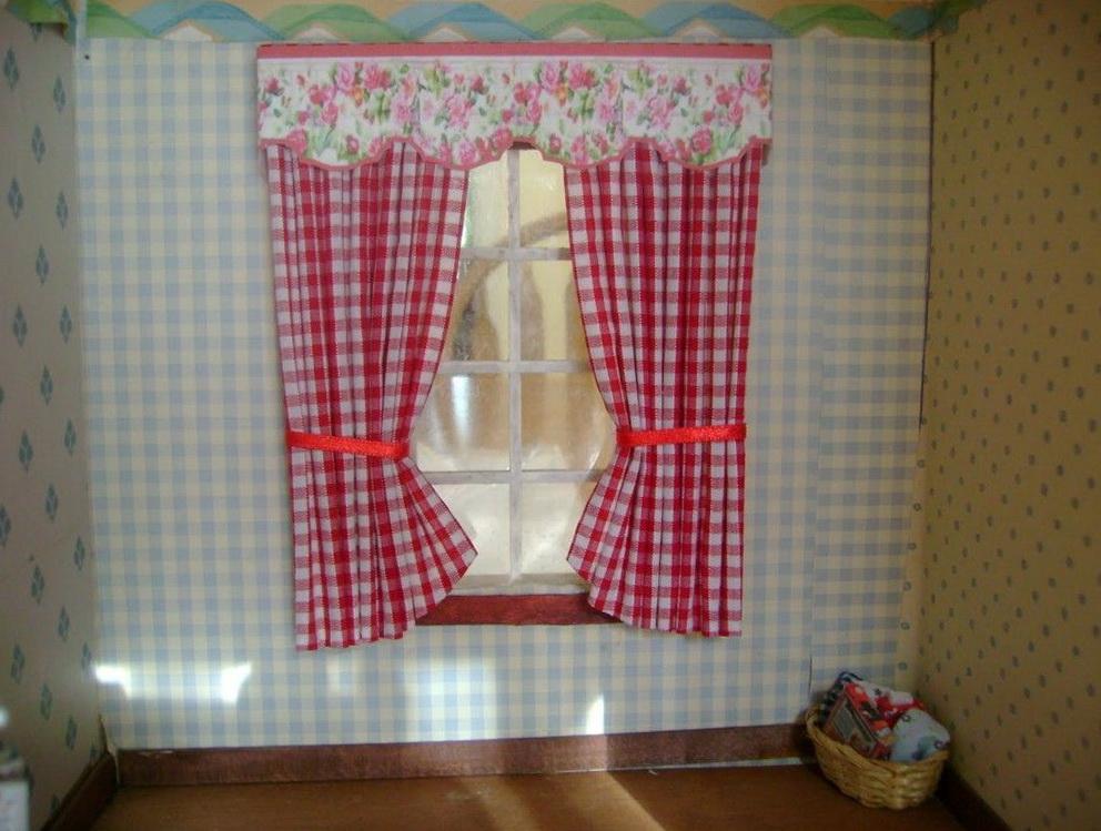Red Plaid Kitchen Curtains Home Design Ideas