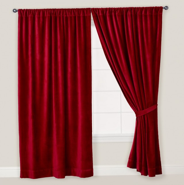 Red Velvet Curtains Ikea