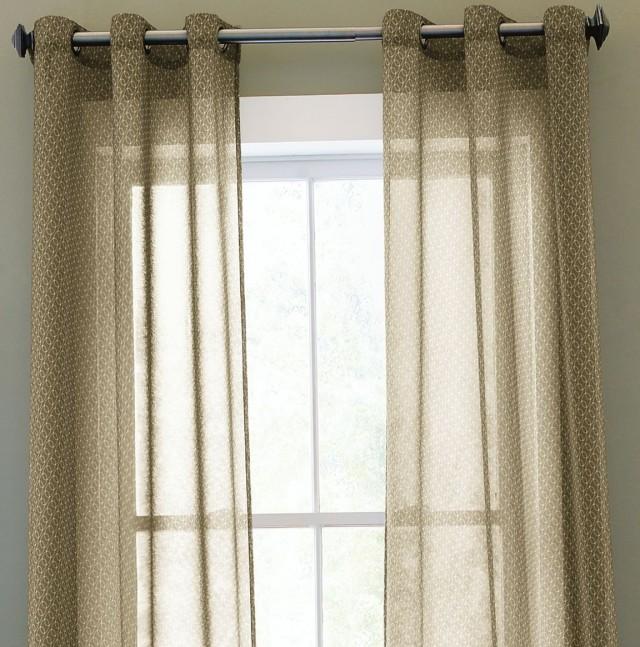 Sheer Curtain Scarf Ideas