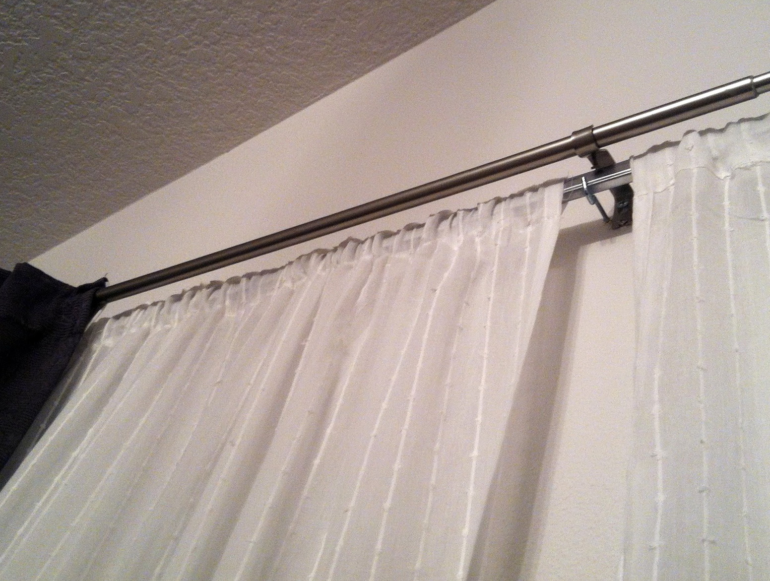 Sheer Curtains Double Rod