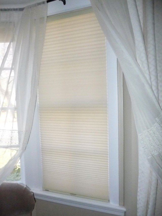 Sheer Curtains Inside Window Frame