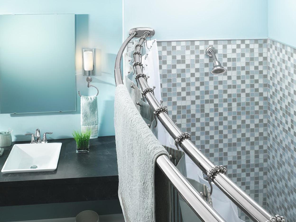 Shower Curtain Bar Curved