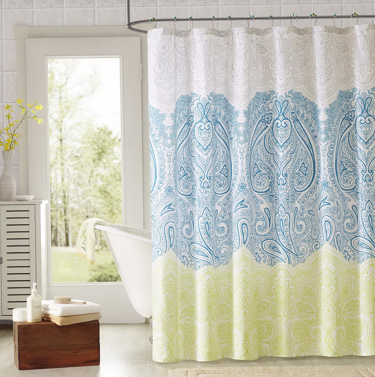 Shower Curtain With Valance Sets