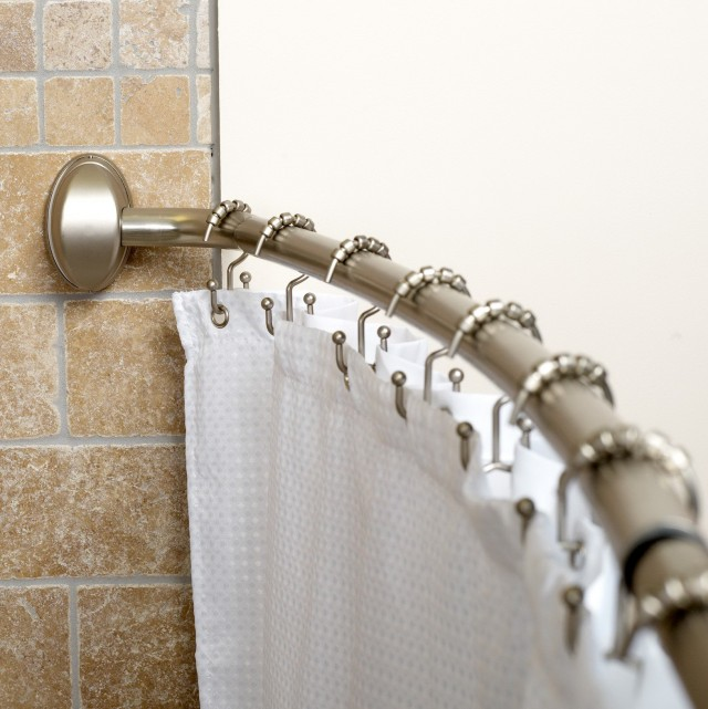 Shower Curtains Rods Curved