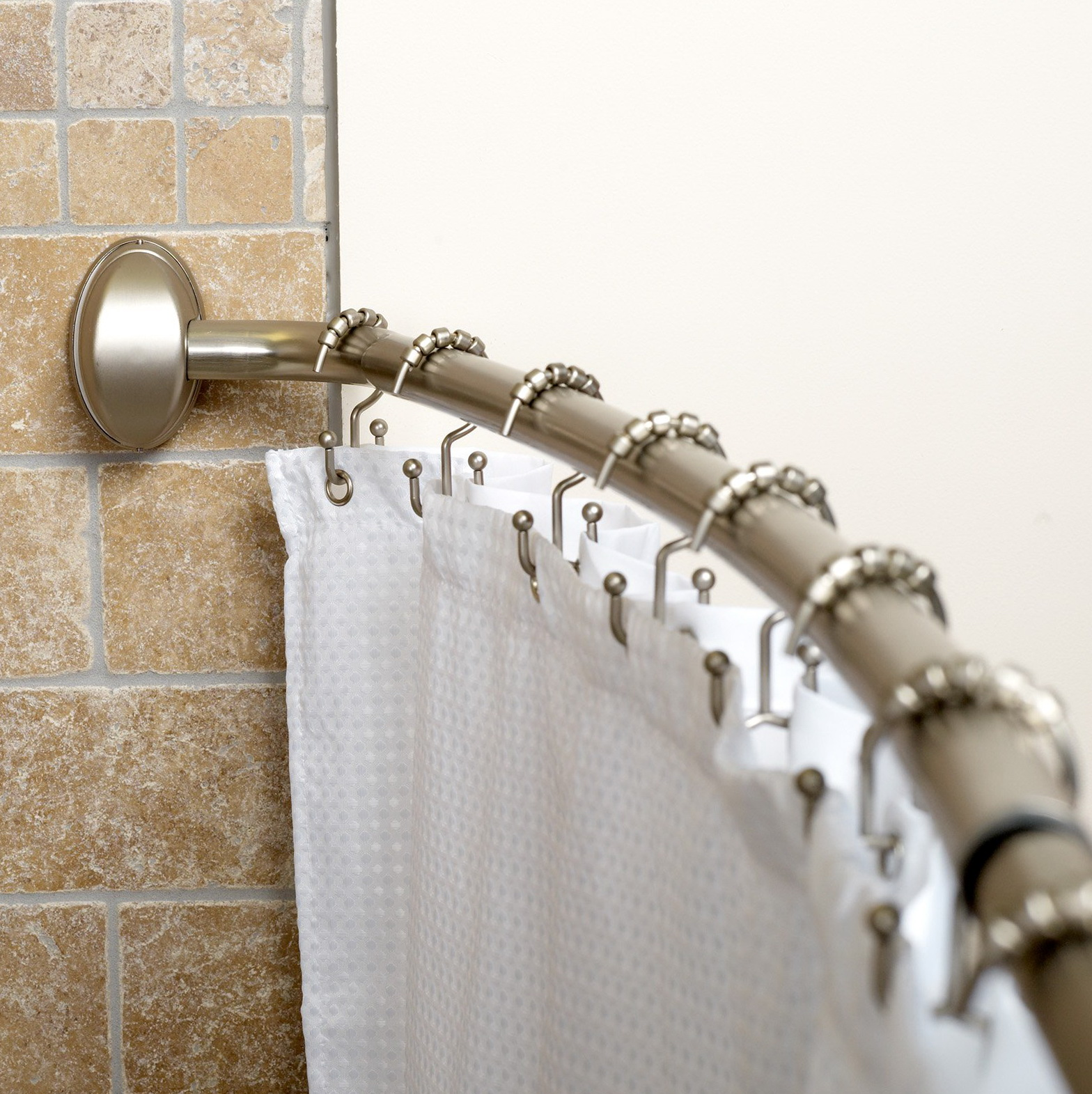 Shower Curtains Rods Curved Home Design Ideas