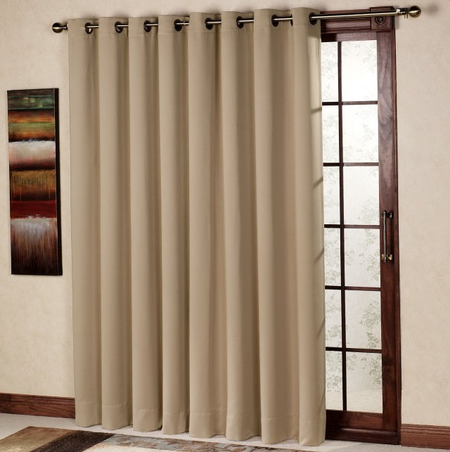 Single panel curtain for sliding glass door jacobhursh - Curtain options for sliding glass doors ...