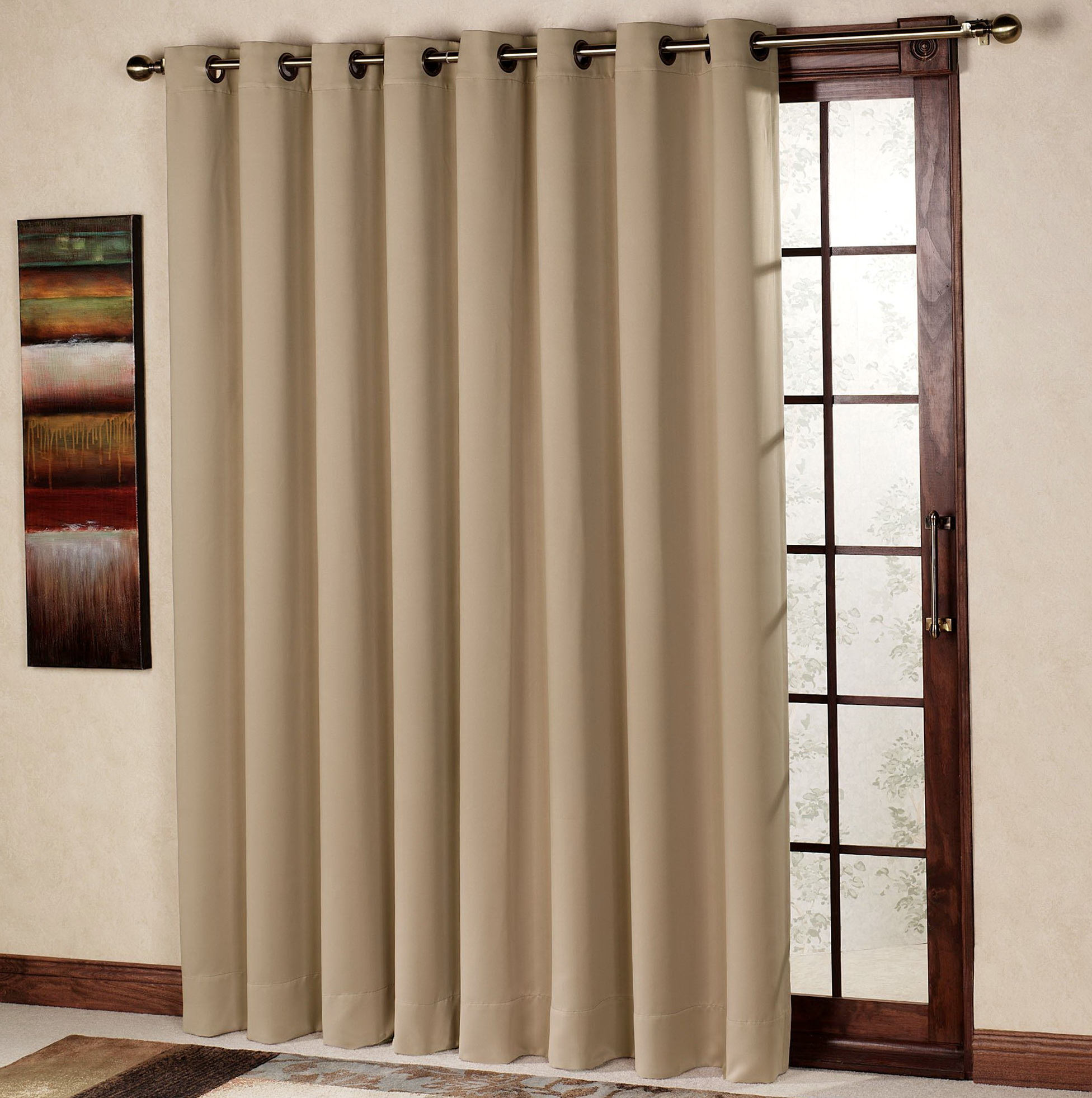 Single panel curtain for sliding glass door home design for Single sliding glass door