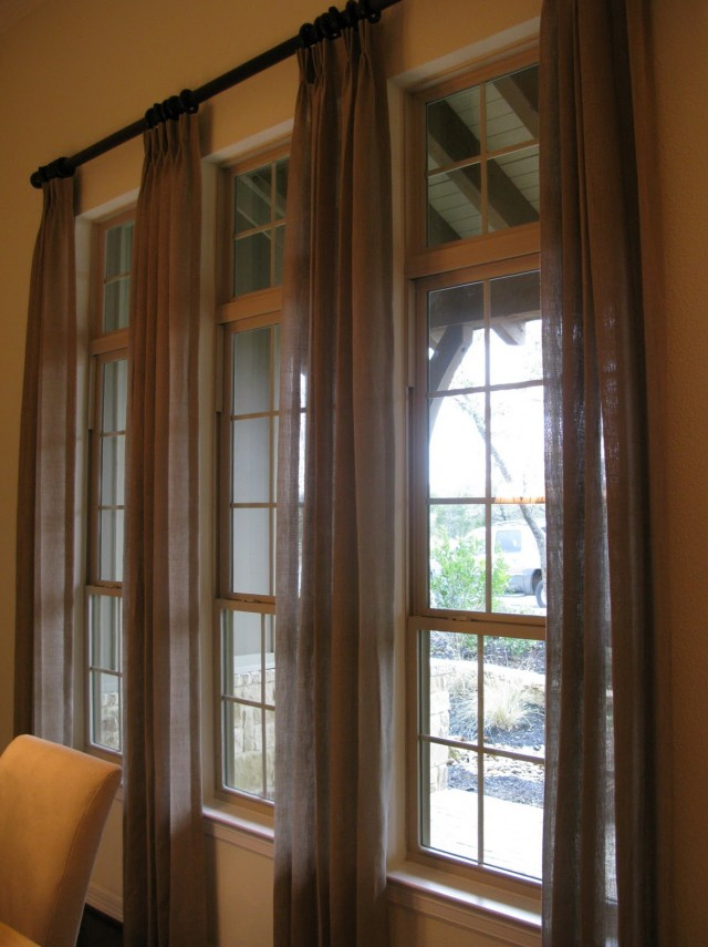 Smocked Burlap Curtains By Jum Jum