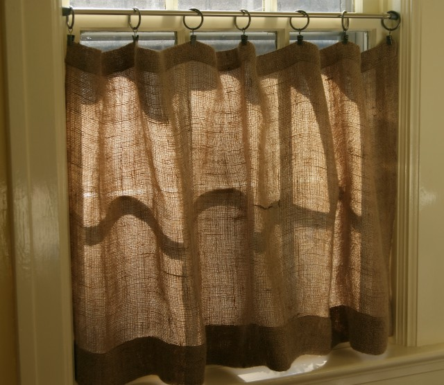 Smocked Burlap Curtains For Sale