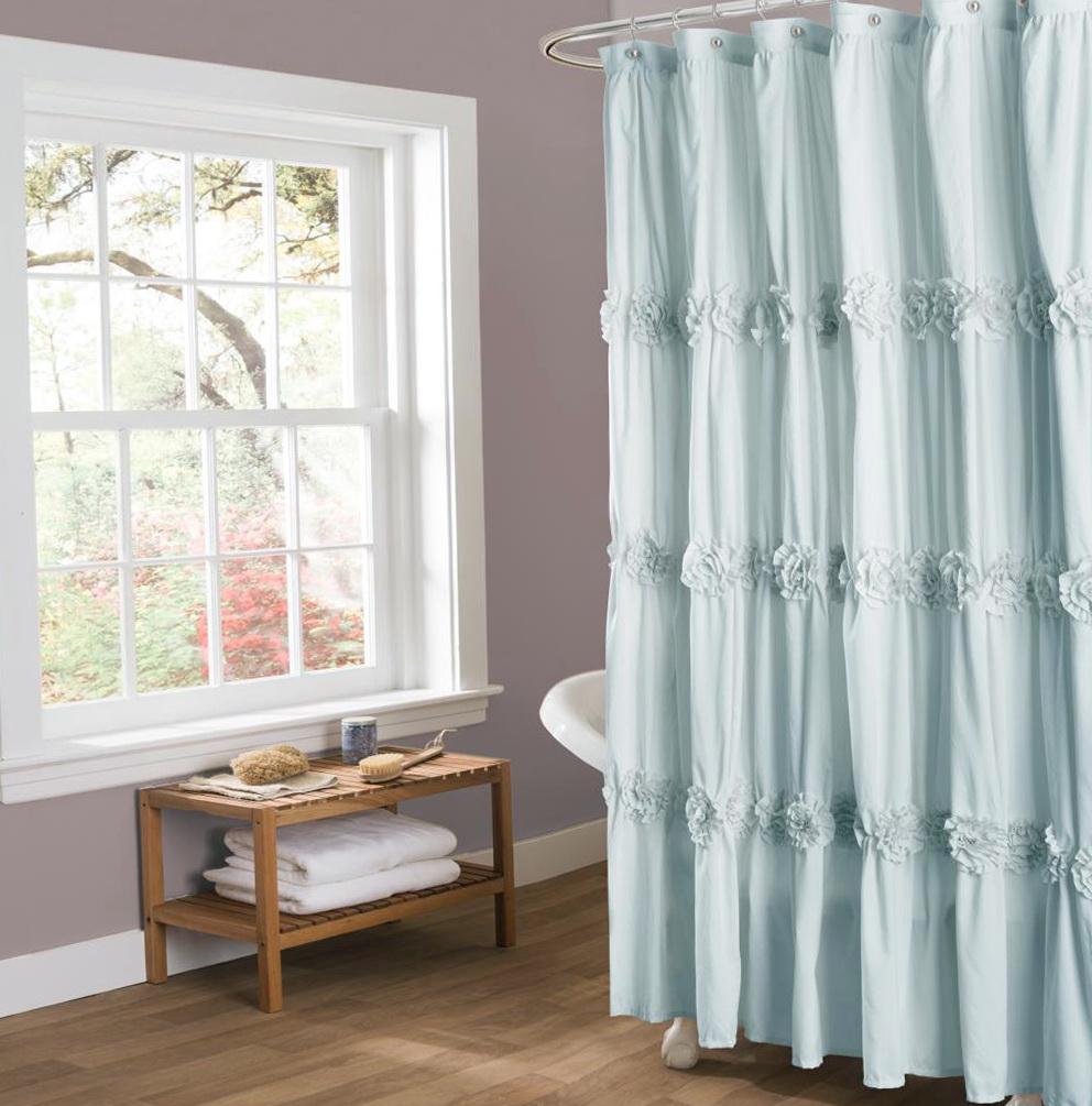 Spa Blue Shower Curtain