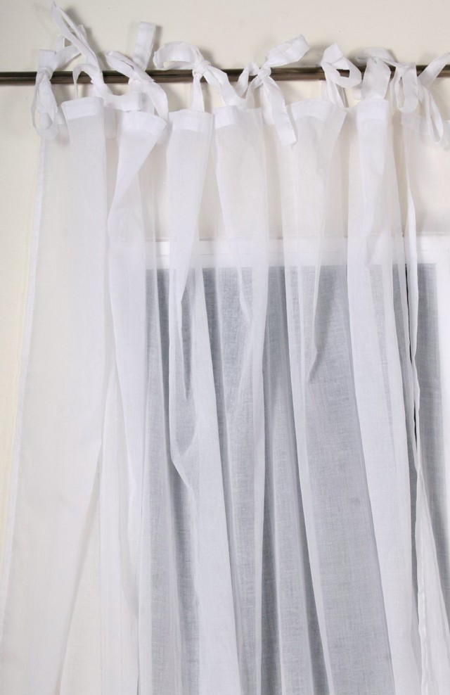 Tab Top Sheer Curtains White