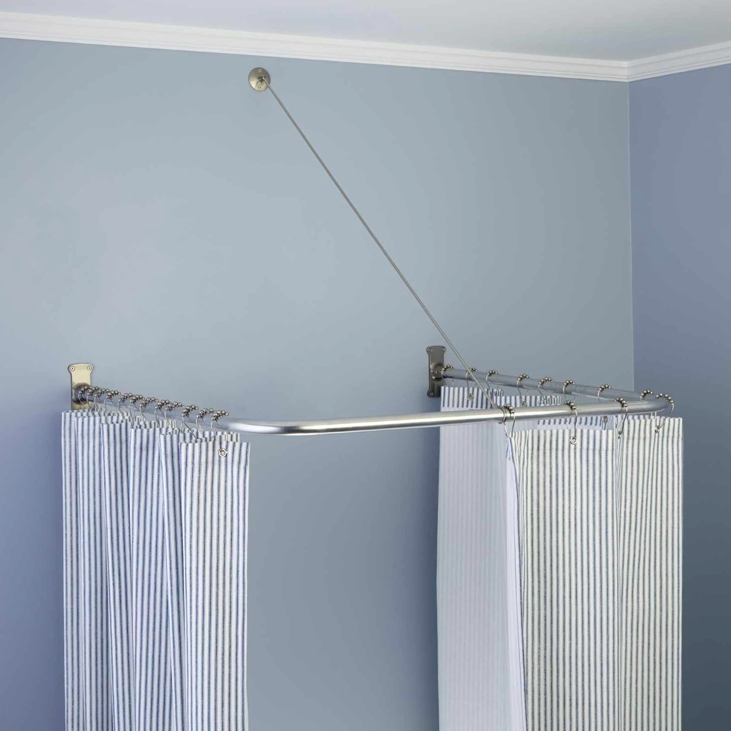 U Shaped Shower Curtain Rod Home Design Ideas
