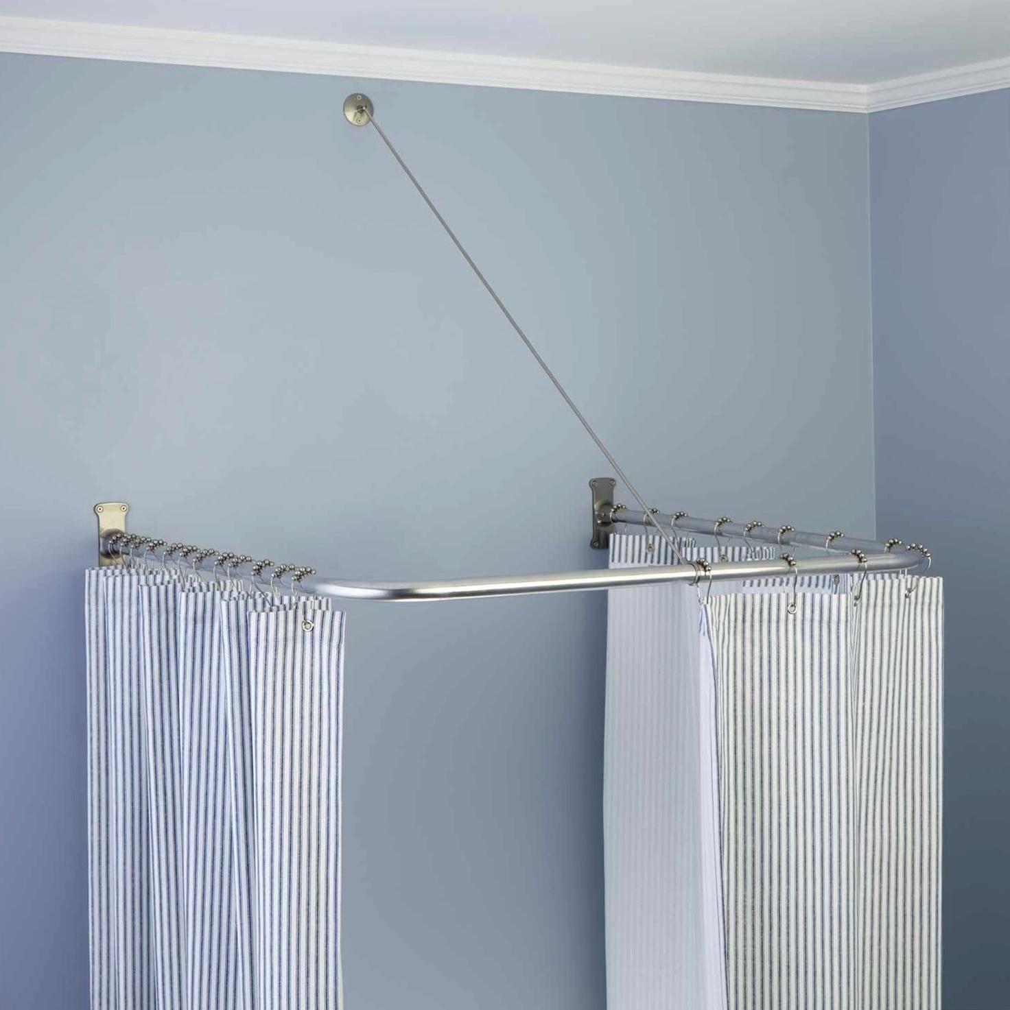 U Shaped Shower Curtain Rod