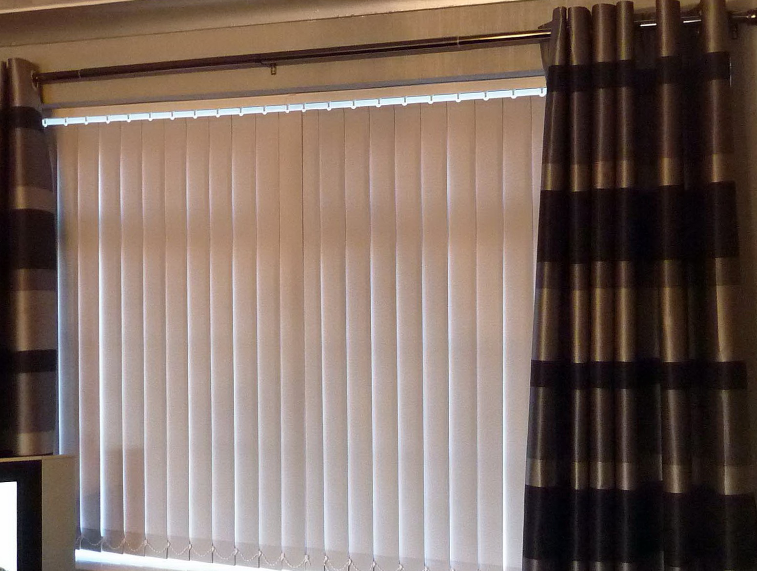 Vertical Blinds With Curtains Home Design Ideas