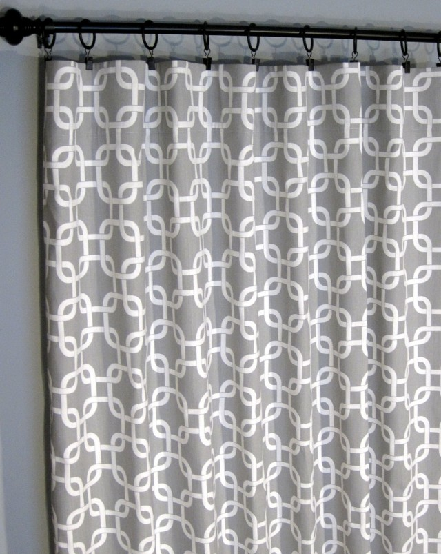 White And Gray Curtain Panels