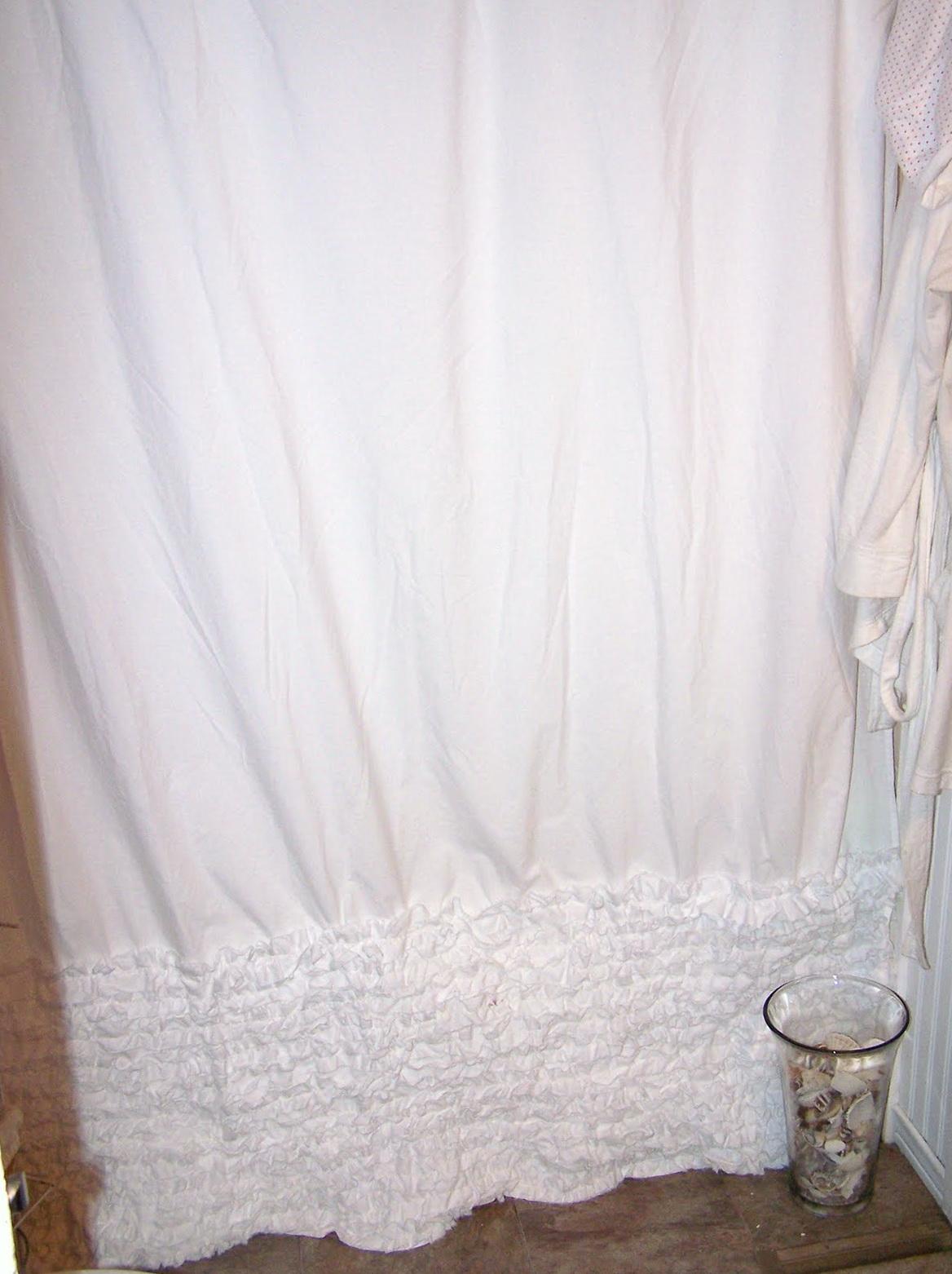 White Ruffle Shower Curtain Anthropologie | Home Design Ideas