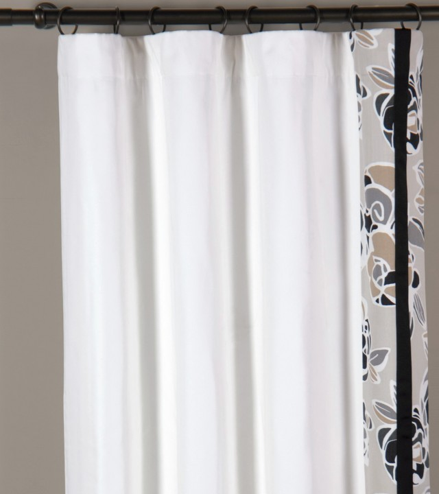 White Silk Curtains Sale