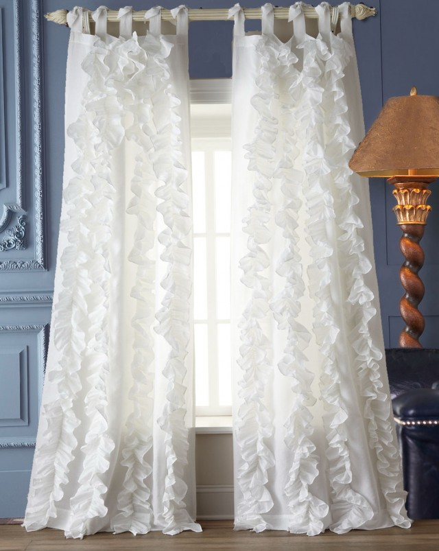 White Silk Curtains Uk