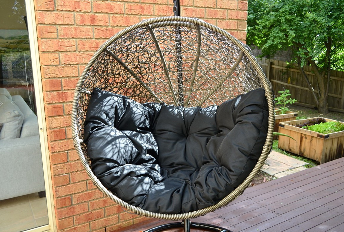 Marvelous Wicker Chair Cushion Round Back