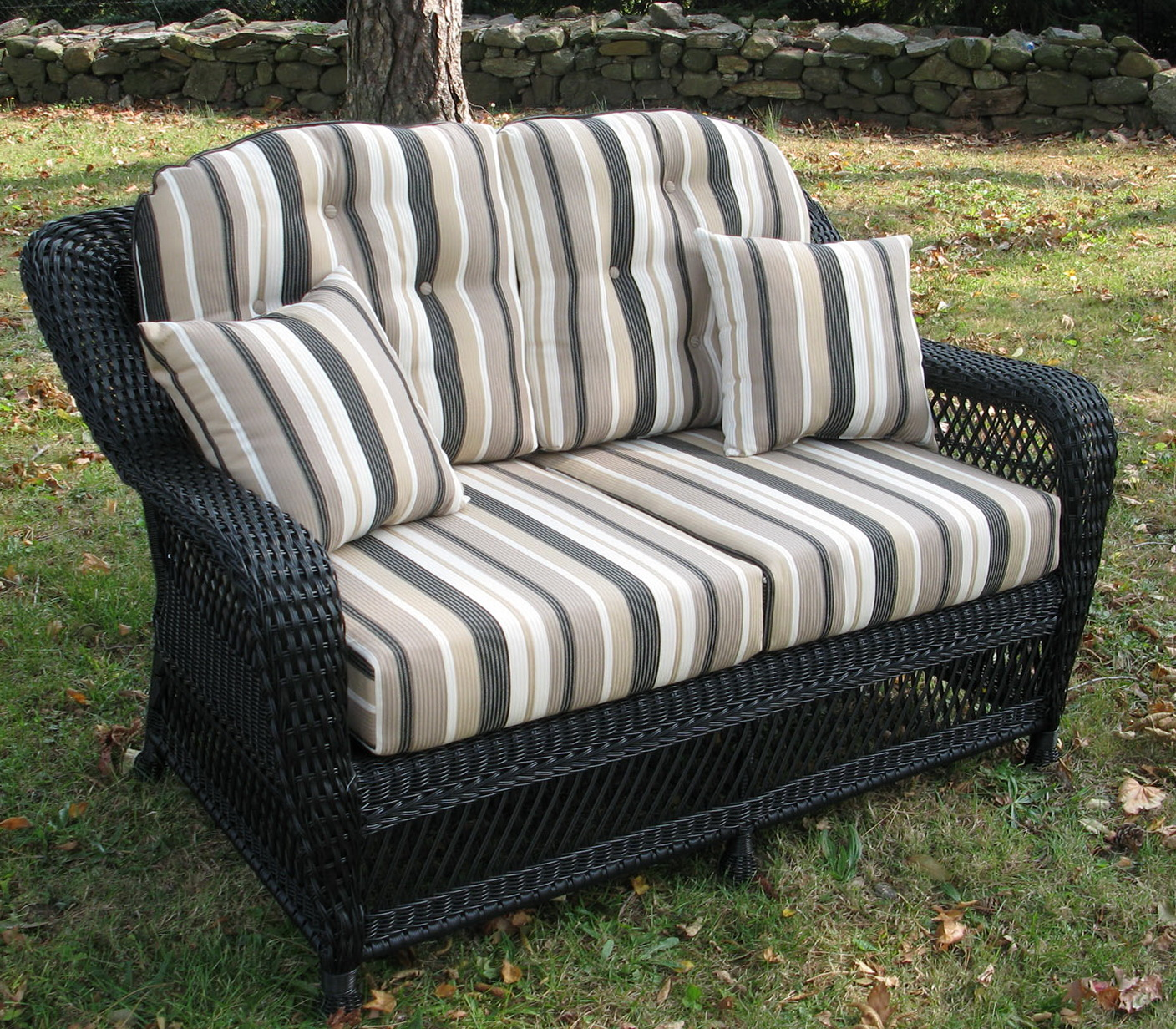 Wicker Loveseat Cushion Set Home Design Ideas