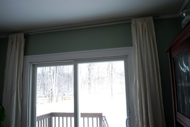 Wide Curtain Rods Without Center Support