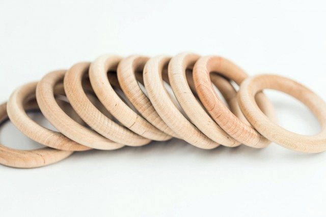 Wood Curtain Rings 3 Inch