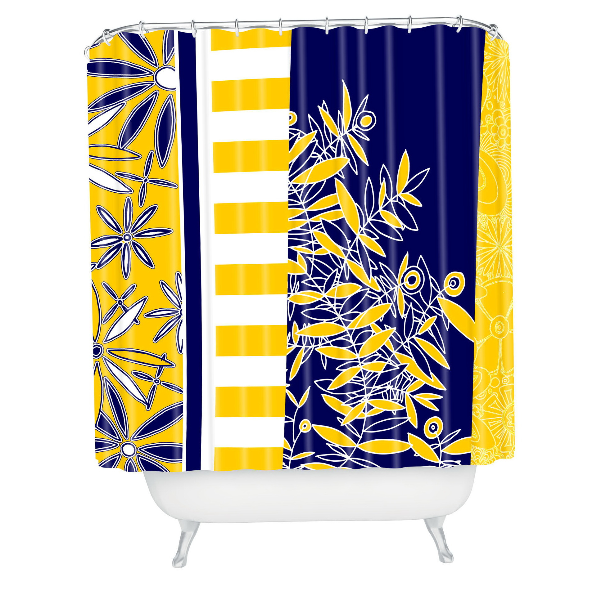 Navy Blue And Yellow Curtains: Yellow And Navy Blue Curtains