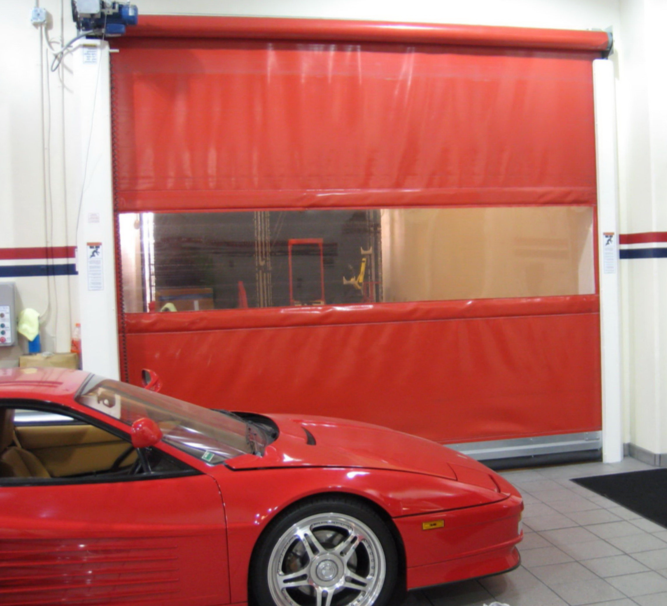 Air Curtain Roll Up Door