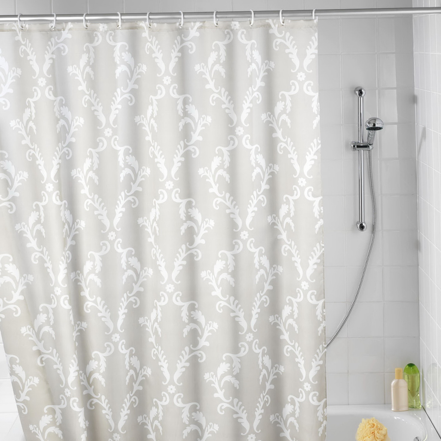 See through shower curtain