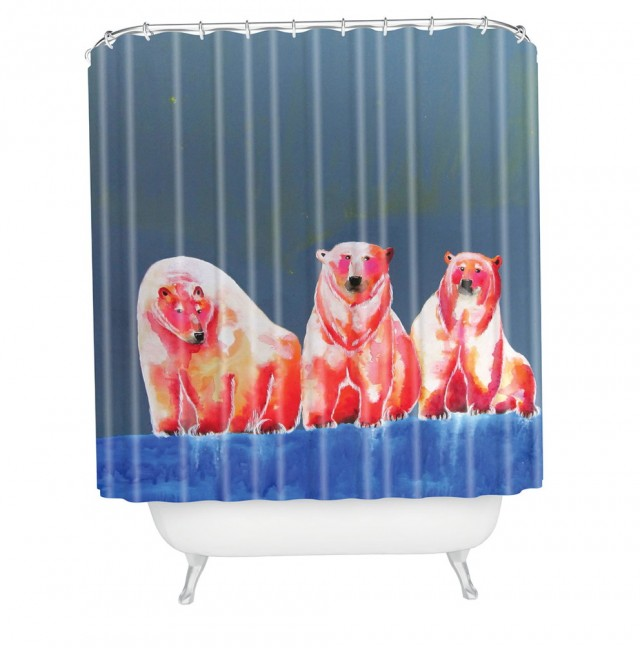 Bear Claw Tub Shower Curtain