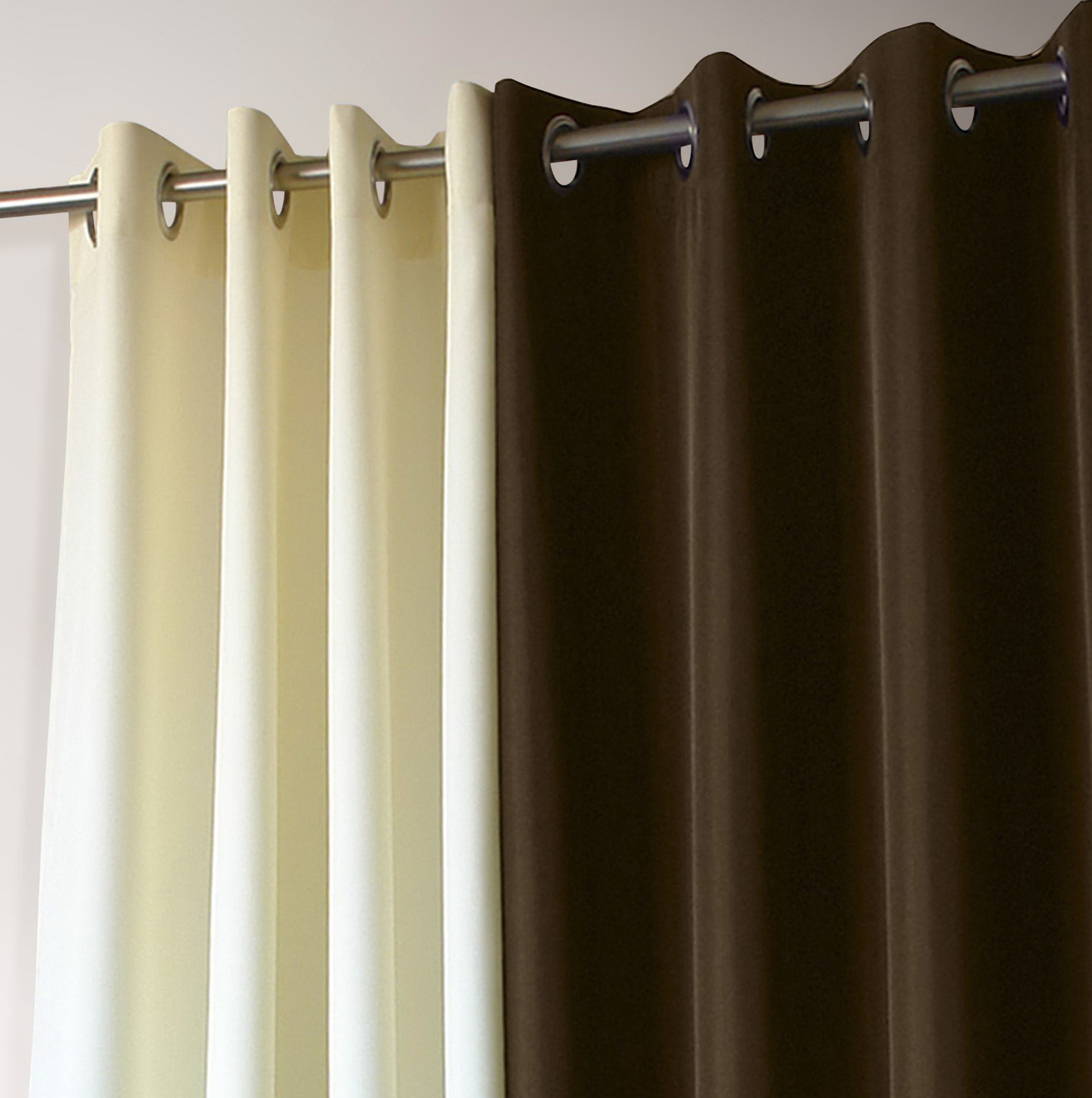 Best Curtain Rods For Grommet Panels Home Design Ideas