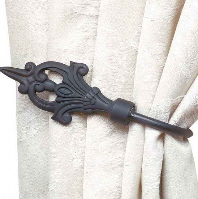 Black Holdbacks For Curtains