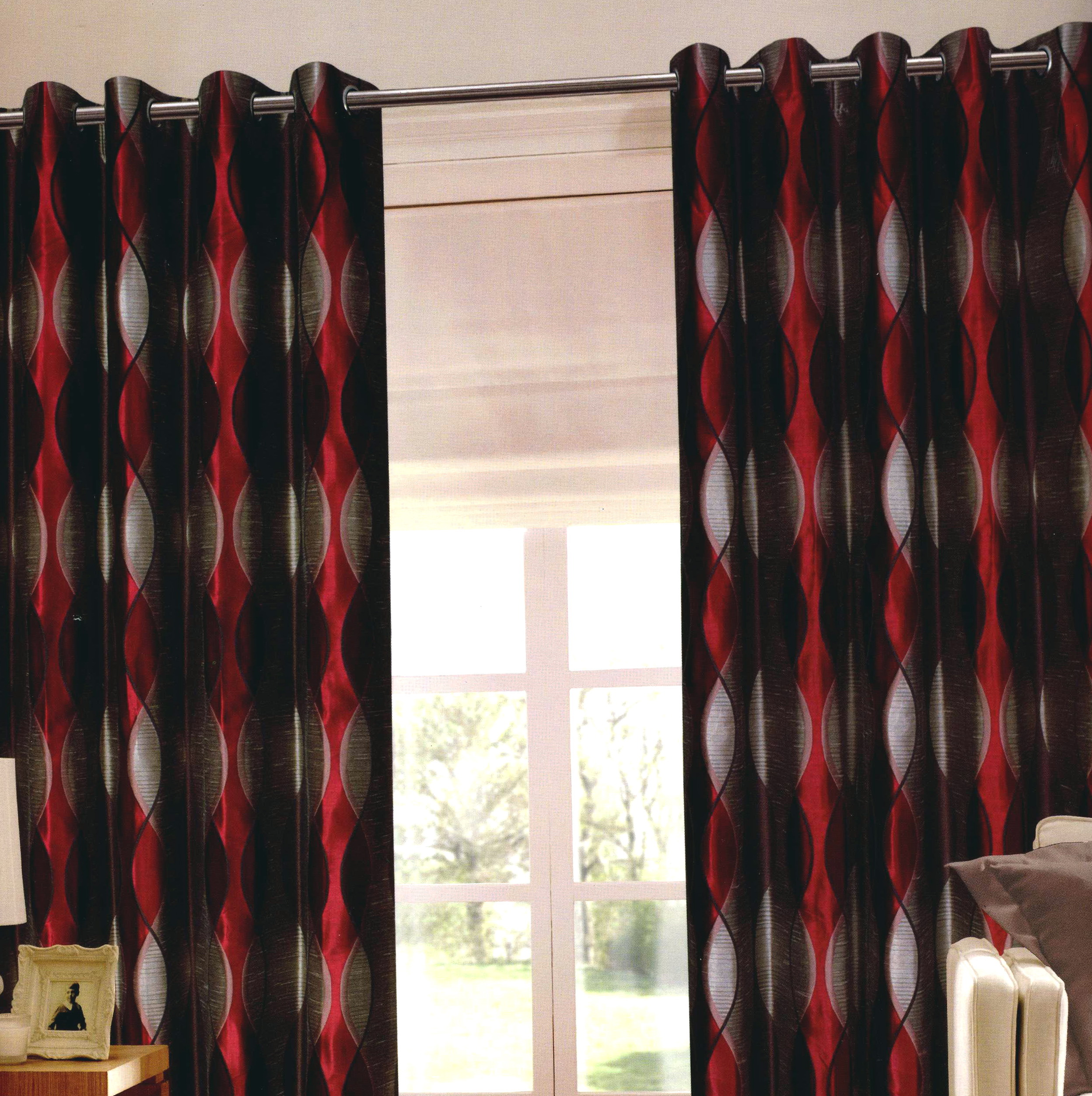 Black Red And Cream Curtains Home Design Ideas