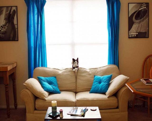 Bright Blue Curtains Uk