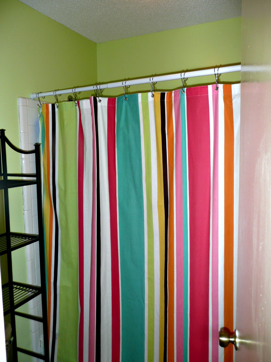 Bright colored shower curtains home design ideas Colorful shower curtains