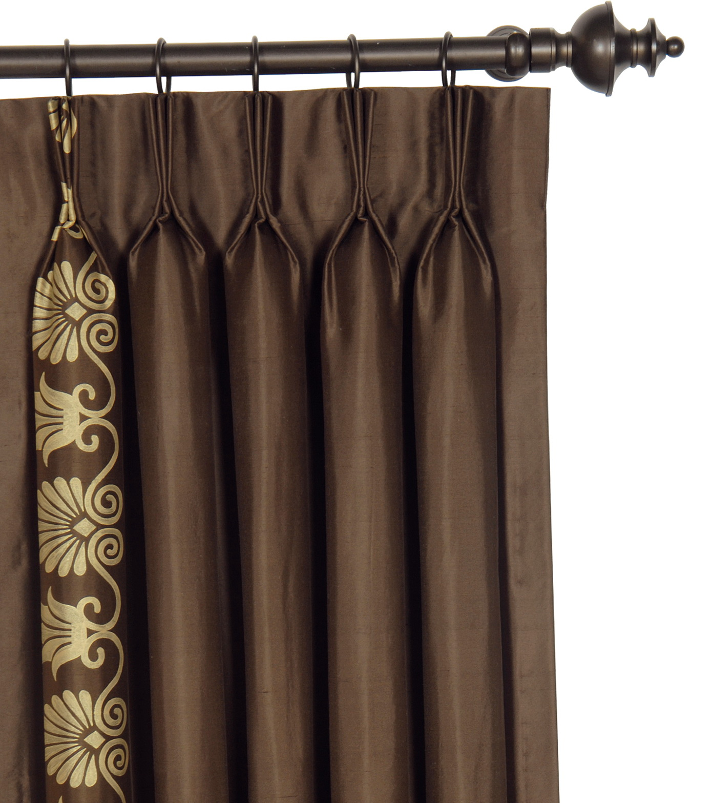 Brown And Gold Curtain Panels Home Design Ideas