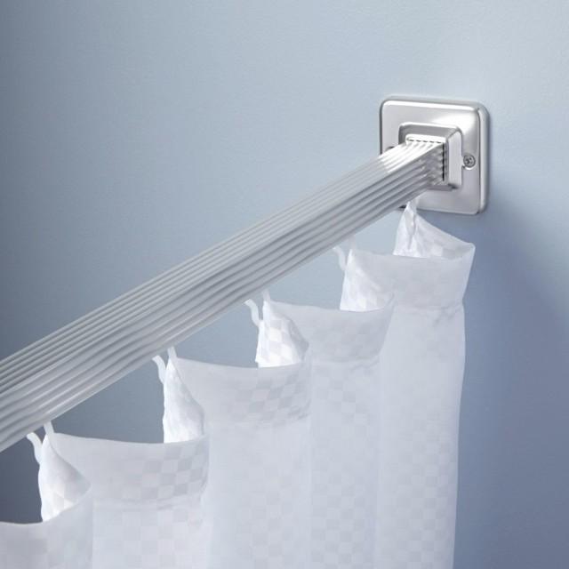 Chrome Shower Curtain Rod Straight