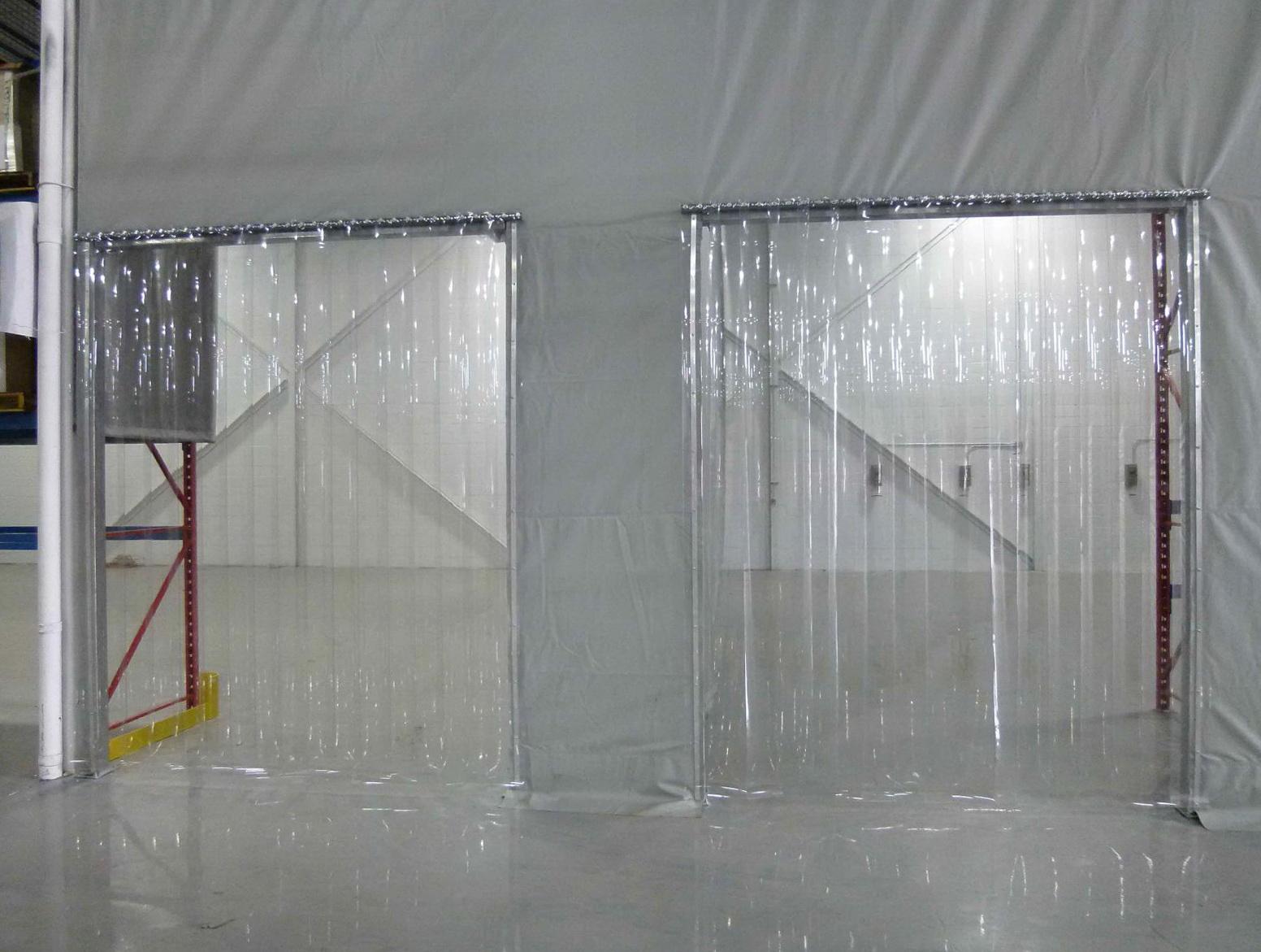 Clear Strip Curtain Door Home Design Ideas