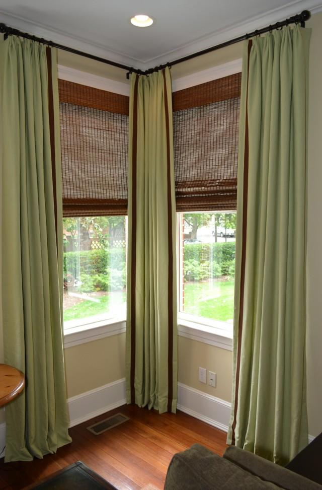 Corner Window Curtain Rod Set