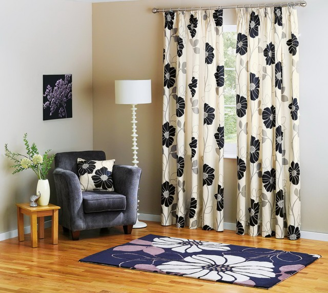 Cream And Black Curtains Uk