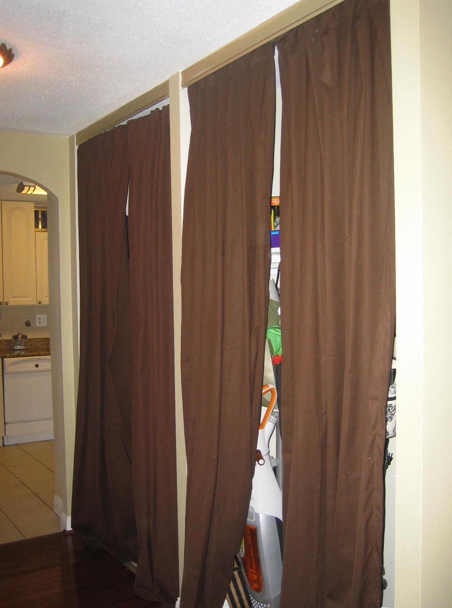 Curtain doors for closet