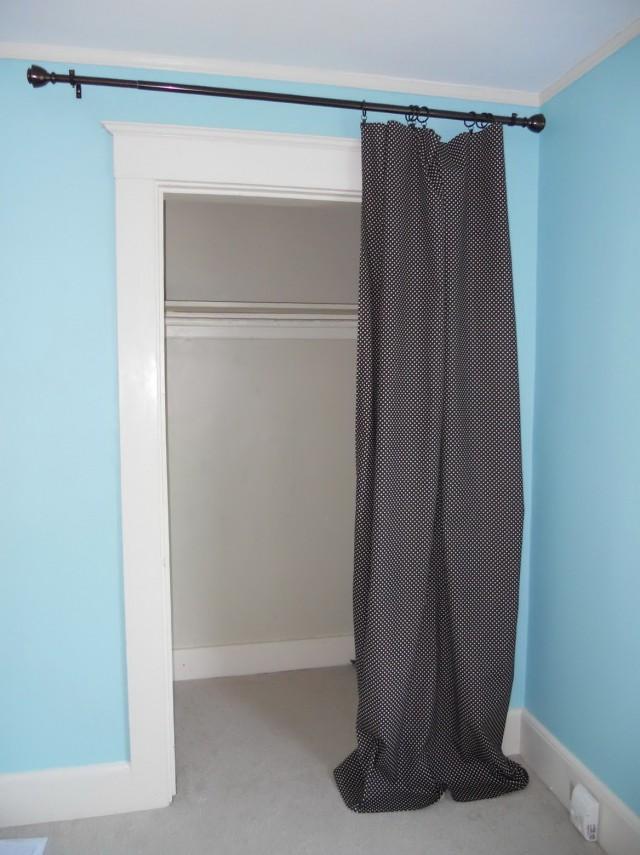 Diy Curtain Closet Door Home Design Ideas